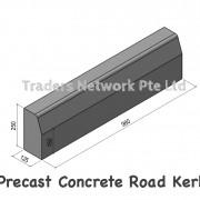 precast concrete road kerb